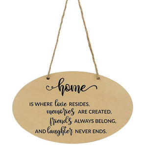 Home Is Where Love Resides Plaque