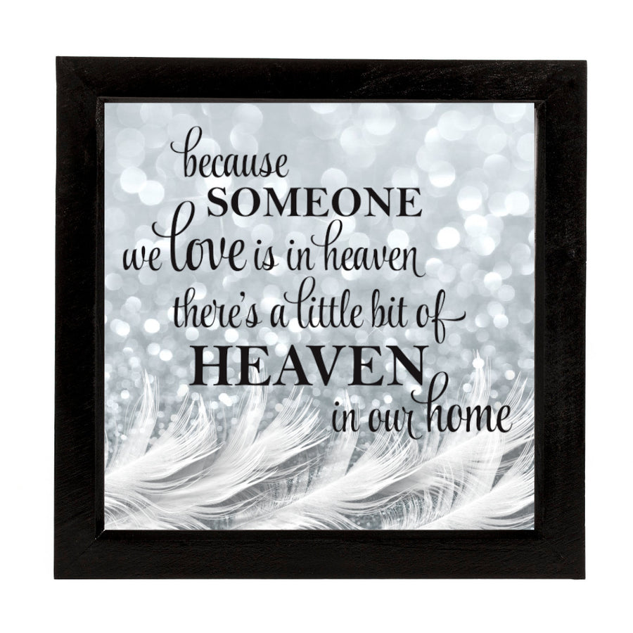 Personalised Memorial Deep Box Frame with Feathers Inside