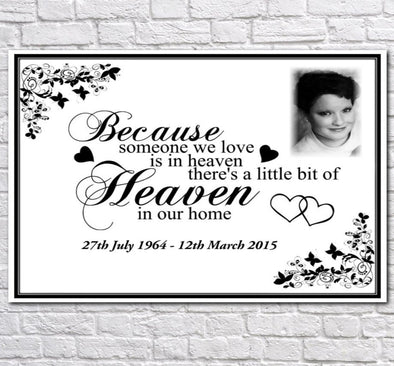 Personalised Memorial Photo Canvas