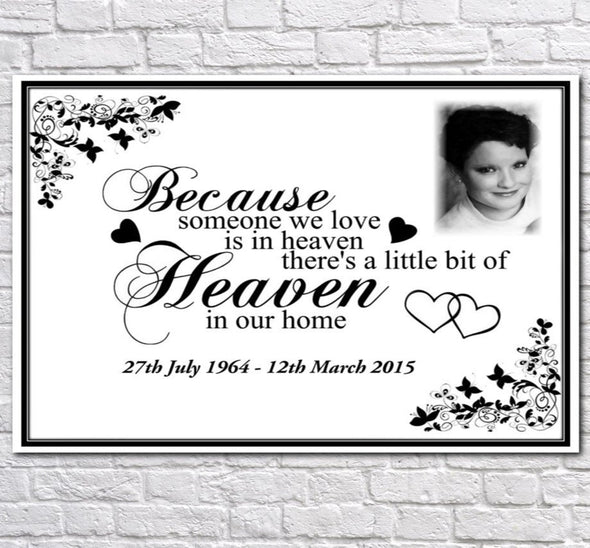 Personalised Memorial Canvas