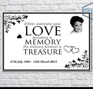 Beautiful Personalised Memorial Photo Canvas