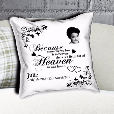 Personalised Memorial Heaven Cushion