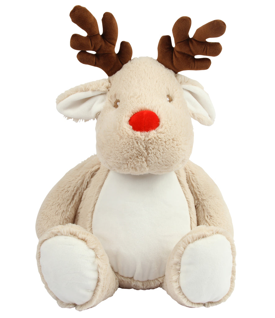 Personalised XLarge Light Brown Reindeer Teddy Bear