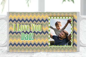 Father's Day For Him Custom Text Personalised Photo Cup Mug