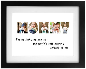 Personalised Mummy Word Art Fram Design