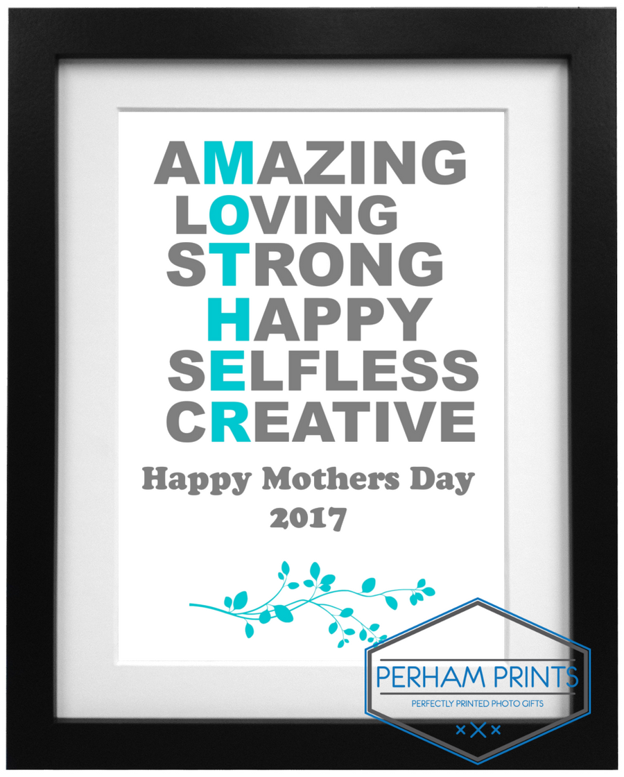 Frame Design Acrostic Mothers Day Poem - Mothers Day Gift