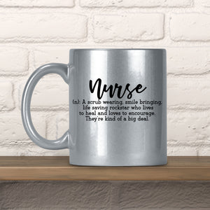 Definition Of A Nurse Glitter Mug
