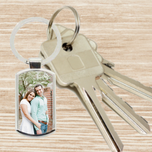 Personalised Photo Keyring - Oblong