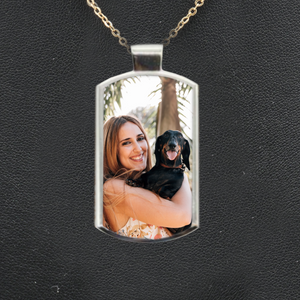 Personalised Rectangle Picture Photo Necklace
