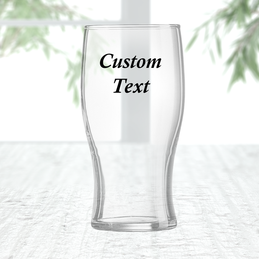 Personalised Pint Glass Customise With Text