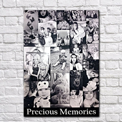 Personalised Multi-Photo Precious Memories Collage Canvas