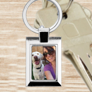 Personalised Photo Keyring - Rectangle