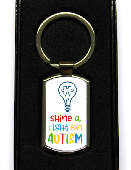 Shine A Light On Autism Keyring
