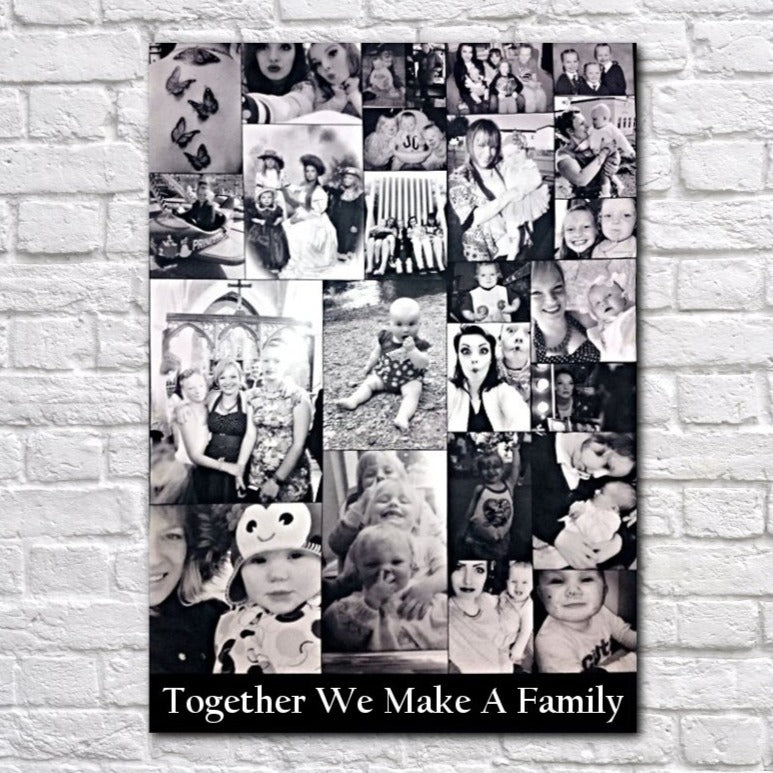Together We Make a Family Photo Collage Canvas