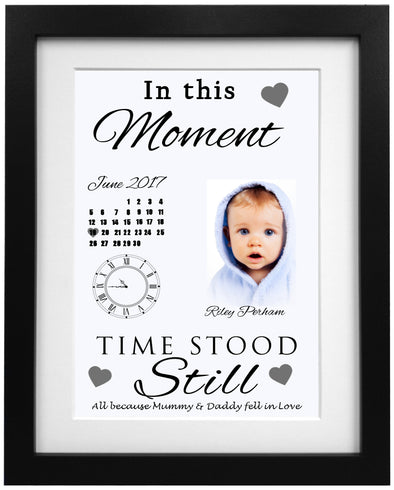 When Time Stood Still New Born Baby Frame Design