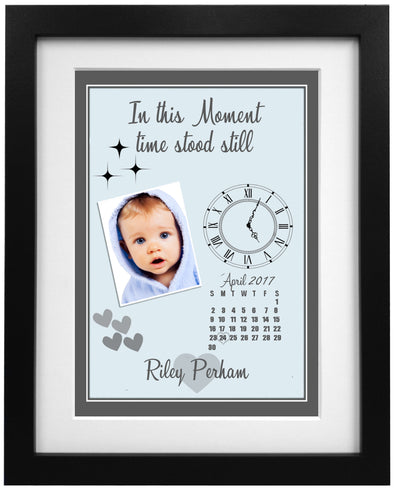 When Time Stood Still Colourful Baby Frame Design