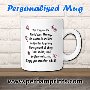 Personalised Mother's Day Poem Printed onto a Mug