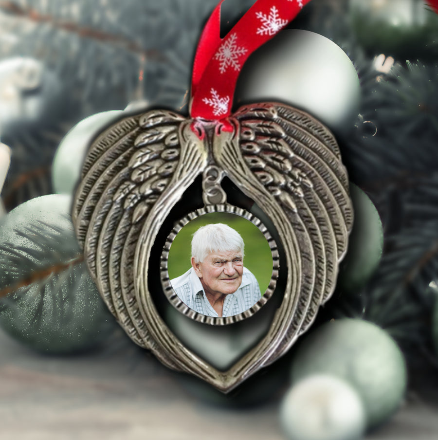Christmas Decoration In Memory Of Wings Photo Ornament