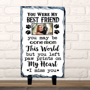 Personalised Photo Slate Memorial Dog Lover