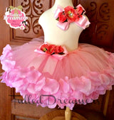 Rose Petal Flower Girl Tutu - Tulled Dreamers