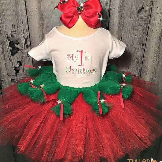 My 1st Christmas Tutu Outfit - Tulled Dreamers