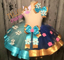 Anna & Elsa Ribbon Trim Tutu - Tulled Dreamers