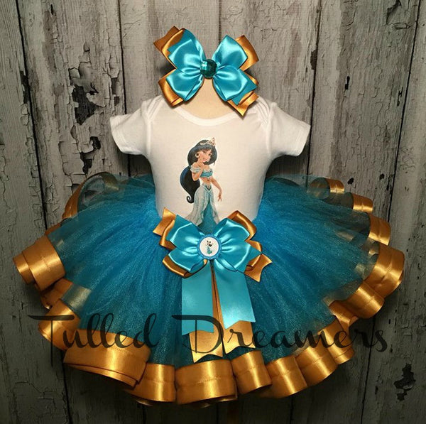 Princess Jasmine Birthday Outfit - Tulled Dreamers