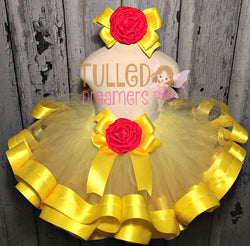Belle Ribbon Trim Tutu - Tulled Dreamers