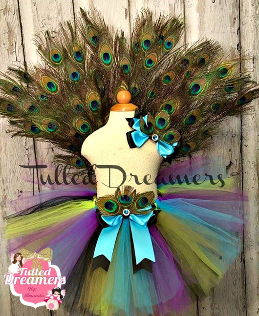 Peacock Costume With Tail Fan