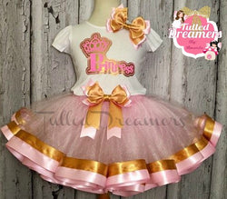 Pink Princess Ribbon Trim Tutu Outfit - Tulled Dreamers