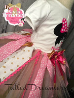 Disneyland Minnie Mouse Pink Tutu Outfit - Tulled Dreamers