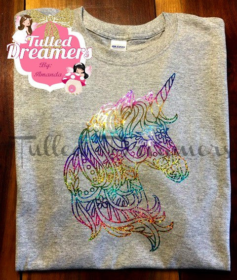 Rainbow Unicorn Holographic Shirt