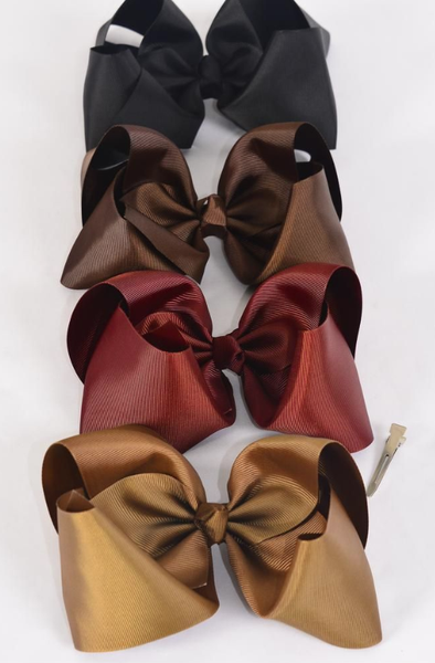 Assorted Brown Jumbo Bows