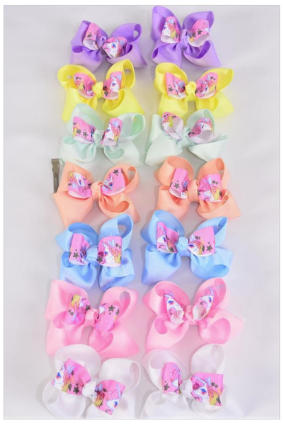 Unicorn Piggy Tail Bows