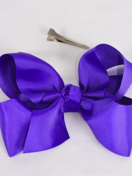 "Purple 4"" Bows"