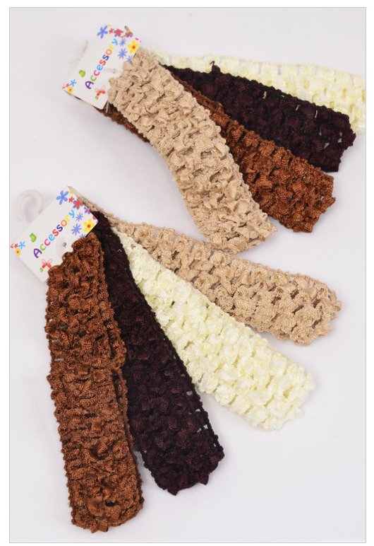 Shades Of Brown Infant Headbands