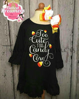 Candy Corn Cutie Dress With Hair Bow