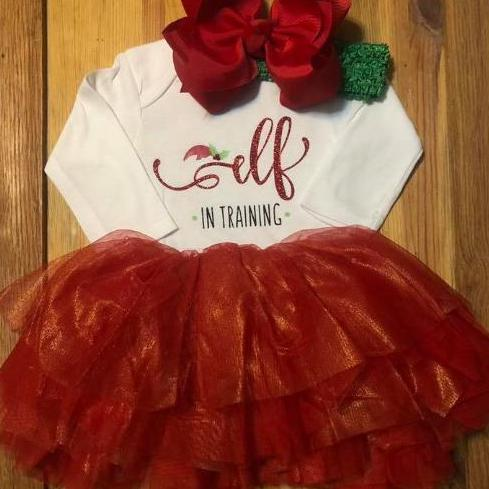 Elf In Training Christmas Outfit