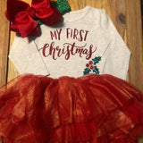 My First Christmas Tutu Outfit
