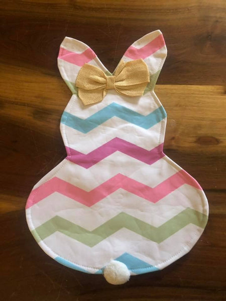 Chevron Easter Bunndy Garden Flag