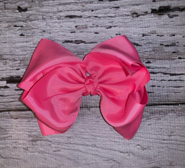 "8"" Bubble Gum Pink Bows"