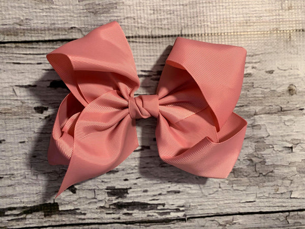 "Dusty Rose 8"" Bows"