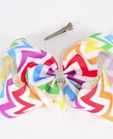 Rainbow Chevron Jumbo Bow