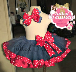 Red & Blue Polka Dot Tutu