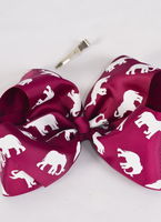 "8"" Elephant Burgundy Bows"