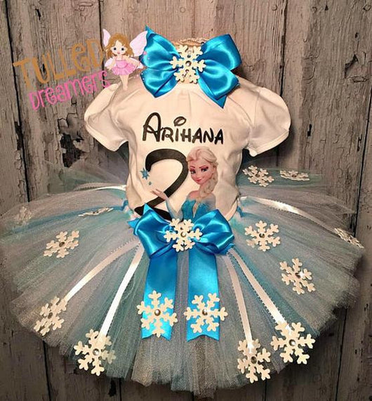 Customized Elsa Tutu Outift - Tulled Dreamers