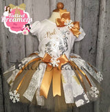 Snowflake Reindeer Christmas Tutu Outfit - Tulled Dreamers