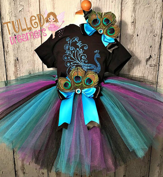 Peacock Tutu Outfit - Tulled Dreamers