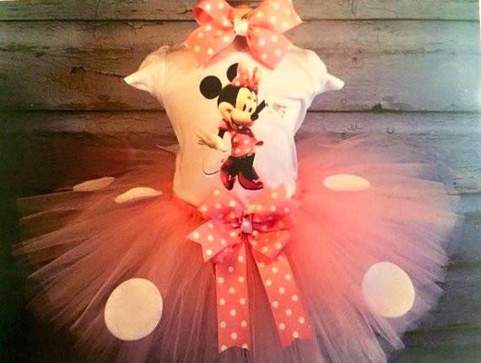 Pink Minnie Mouse Tutu Outfit - Tulled Dreamers