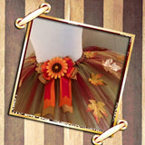 Fall Leaves Tutu With Sunflower Bow